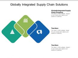 Globally Integrated Supply Chain Solutions Ppt Powerpoint Presentation Gallery Master Slide Cpb