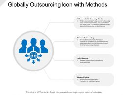 Globally Outsourcing Icon With Methods