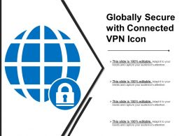 Globally Secure With Connected Vpn Icon