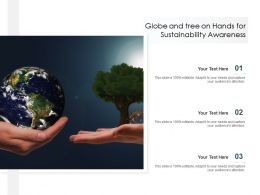 Globe And Tree On Hands For Sustainability Awareness