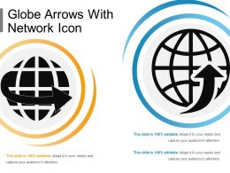 Globe Arrows With Network Icon