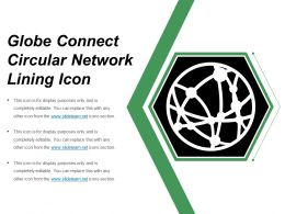 Globe Connect Circular Network Lining Icon