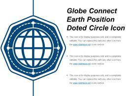 Globe Connect Earth Position Doted Circle Icon