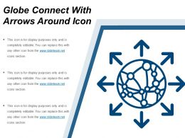 Globe Connect With Arrows Around Icon
