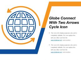 Globe Connect With Two Arrows Cycle Icon