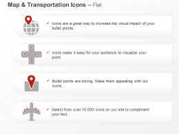 Globe Cross Gps Location Air Travel Ppt Icons Graphics