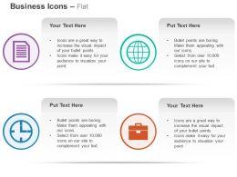 globe_folder_time_management_suitcase_ppt_icons_graphics_Slide01