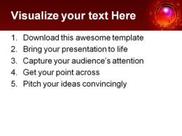 Globe Help PowerPoint Template 0810  Presentation Themes and Graphics Slide03