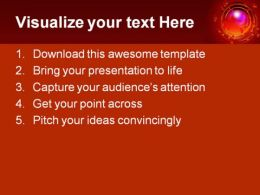 Globe Help PowerPoint Template 0810  Presentation Themes and Graphics Slide02