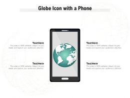 Globe Icon With A Phone