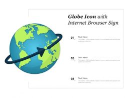 Globe Icon With Internet Browser Sign