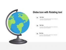 Globe Icon With Rotating Tool