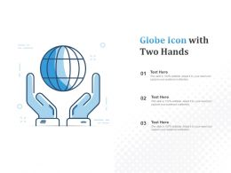 Globe Icon With Two Hands