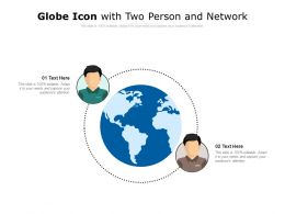 Globe Icon With Two Person And Network