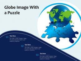 Globe Image With A Puzzle