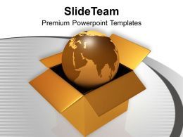 Globe In Brown Box Global Issues PowerPoint Templates PPT Themes And Graphics 0213