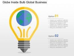 Globe Inside Bulb Global Business Flat Powerpoint Design