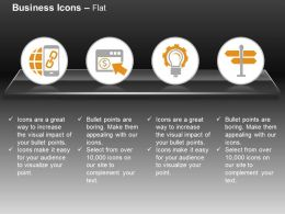 globe_mobile_storage_gear_bulb_signboard_ppt_icons_graphics_Slide01