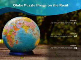Globe Puzzle Image On The Road