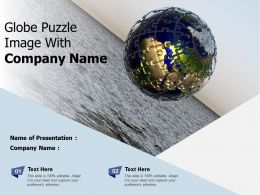 Globe Puzzle Image With Company Name