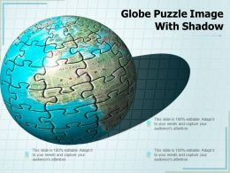 Globe Puzzle Image With Shadow