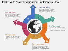globe_with_arrow_infographics_for_process_flow_ppt_presentation_slides_Slide01