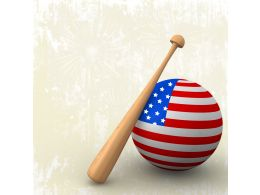 Globe With Baseball Bat Stock Photo