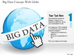 Globe With Big Data Analysis Ppt Presentation Slides