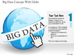 Globe With Big Data Analysis Ppt Presentation Slides