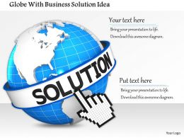 Globe With Business Solution Idea Image Graphics For Powerpoint