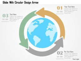 globe_with_circular_design_arrow_flat_powerpoint_design_Slide01