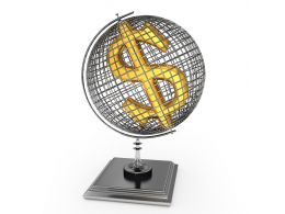Globe With Dollar Sign Stock Photo