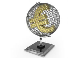 Globe With Euro Sign Stock Photo