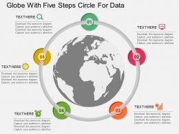 globe_with_five_staged_circle_chart_for_data_ppt_presentation_slides_Slide01