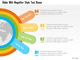 globe_with_magnifier_style_text_boxes_flat_powerpoint_design_Slide01