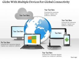 Globe With Multiple Devices For Global Connectivity Ppt Slides
