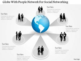 Globe With People Network For Social Networking Powerpoint Template