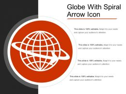 Globe With Spiral Arrow Icon