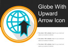 Globe With Upward Arrow Icon