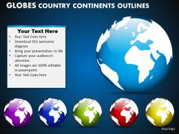 Globes Country Continents Outlines Powerpoint Slides And Ppt Templates DB