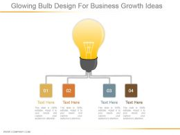 Glowing Bulb Design For Business Growth Ideas Ppt Design