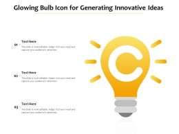Glowing Bulb Icon For Generating Innovative Ideas