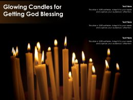 Glowing Candles For Getting God Blessing