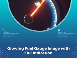 Glowing Fuel Gauge Image With Full Indication