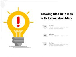 Glowing Idea Bulb Icon With Exclamation Mark