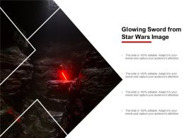Glowing Sword From Star Wars Image