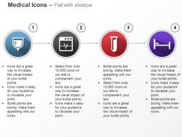 Glucose Ecg Monitor Testtube Bed Ppt Icons Graphics