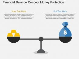 Gm Financial Balance Concept Money Protection Flat Powerpoint Design