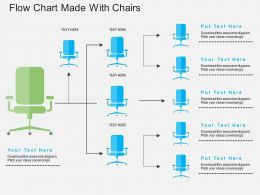 Gm Flow Chart Made With Chairs Flat Powerpoint Design