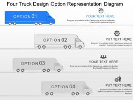 gm Four Truck Design Option Representation Diagram Powerpoint Template